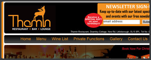 Thamin Indian Restaurant Rochdale Sample